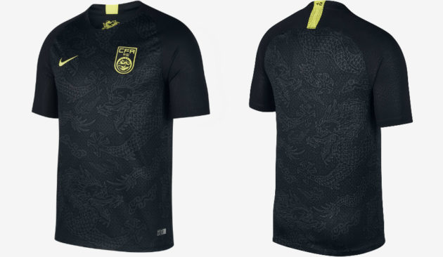 """7cb361aa9 This little black number and potential hipster favorite is Nike s new away  kit for the China national team. The first black shirt (or """"soccer jersey"""")  in ..."""