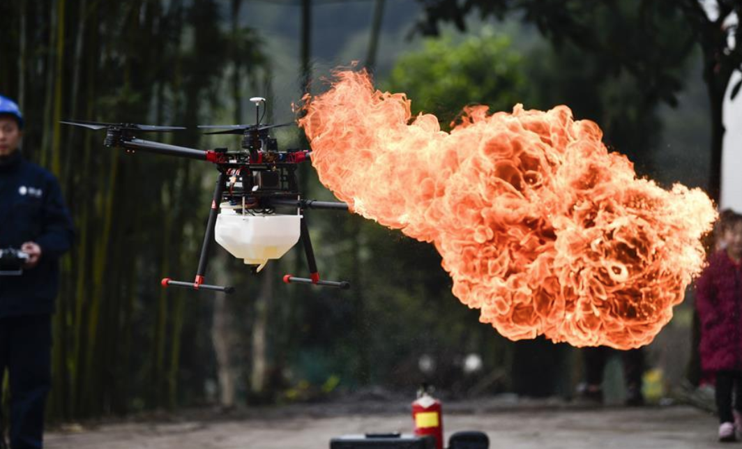 Drones with Flamethrowers are Now a Thing